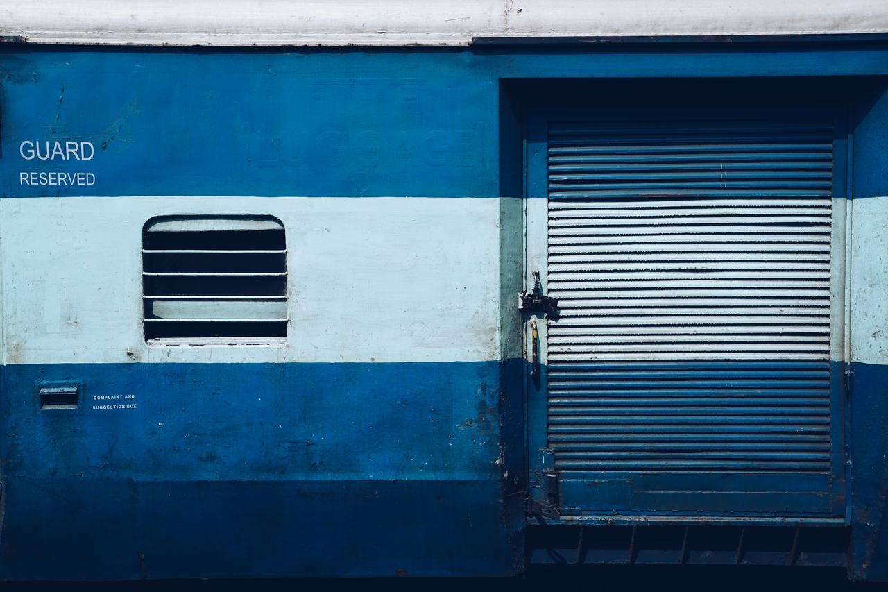 Blue Outdoors Day No People Train Travel Train Car