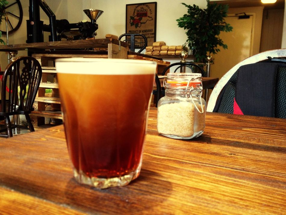 Hanging Out Nitro Coffee Coffee Black Coffee Coffee Shop Cold Pressed Cold Pressed Coffee Glass Table Sugar Brown Sugar