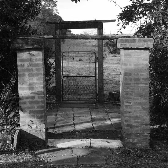 Outdoors No People Abandoned Entrance Old