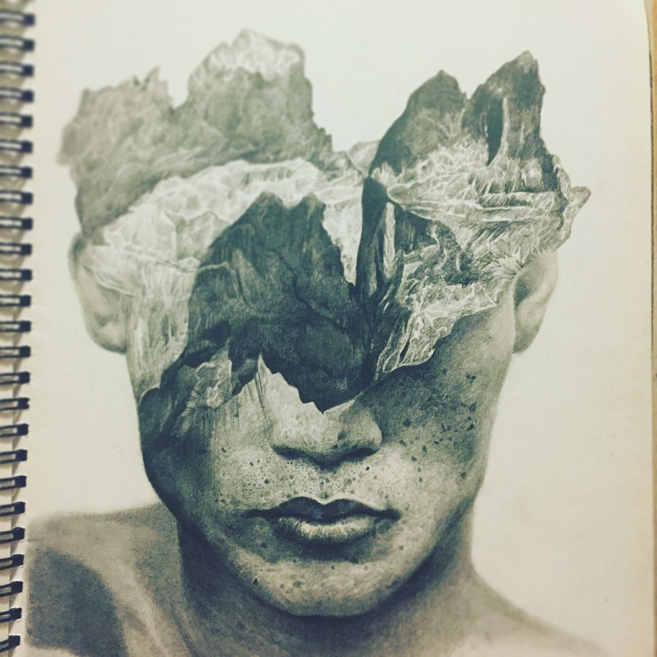 Double exposure Double Exposure Doubleexposure Pencil Drawing Pencil GraphitePencil Graphite Drawing Sketch Life In Motion Portrait