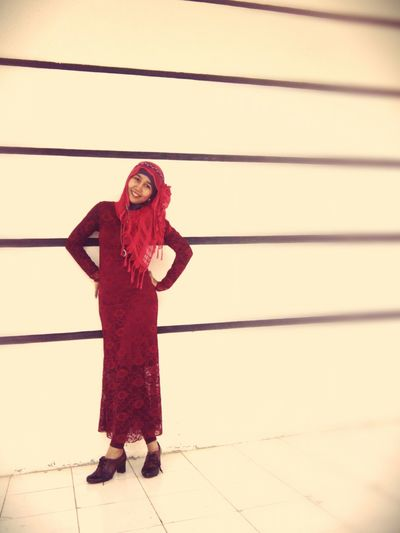 Red for a new day~ 👠👗 Enjoying Life Red Ootd PowerRangerPelangi Lady Fashion Red Dress Dress Beauty Lace Dress