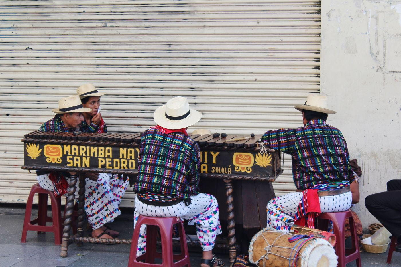 6th Av. Zone 1, Guatemala's Downtown Two People Sitting Real People Men Lifestyles Day Full Length Togetherness Outdoors Musical Instrument Friendship Musician City Adult Adults Only People Marimba Marimba Guatemala Musicians Urbanphotography Streetphotography