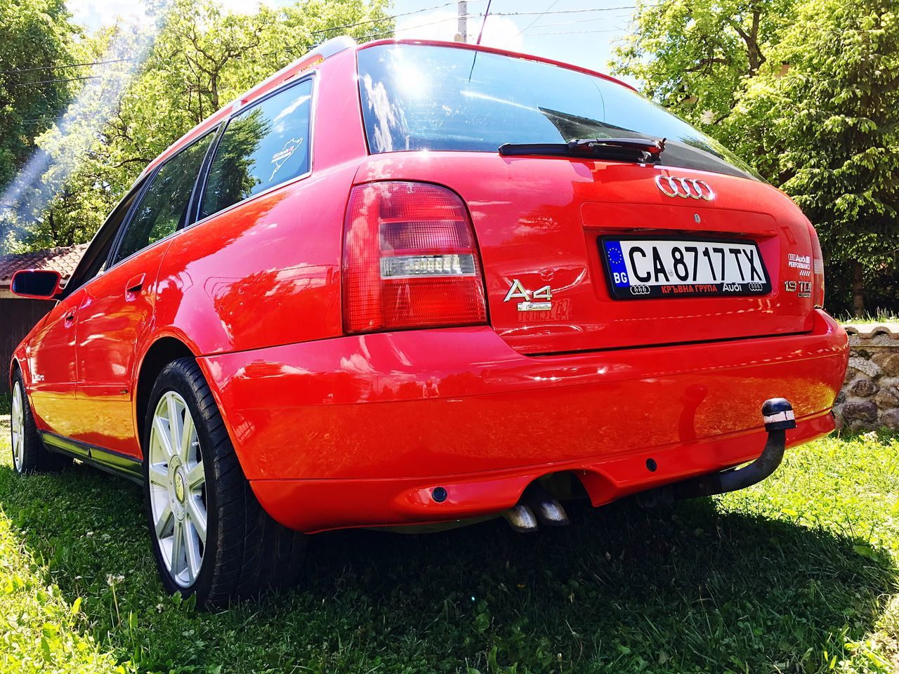 Audi Red Audia4 Cars Oldschool 1.9Tdi Facelift LoveCars Sportcar Contrast Clean Colorful