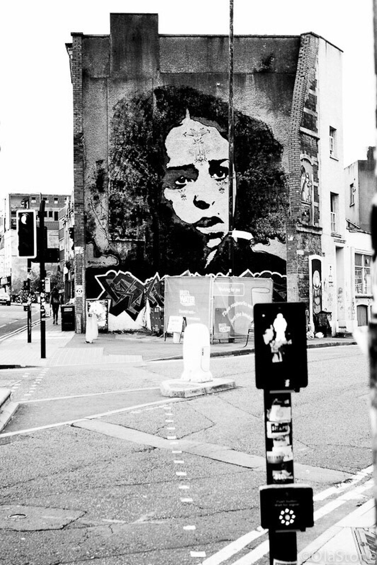 Neighborhood Map Stokes Croft Graffiti Monochrome Photography Pelicancrossing Crossroads