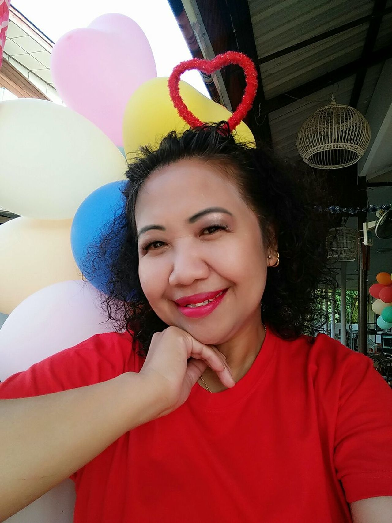 Smile Enjoying Life My Smile :)  That's Me My Feelings Pink Dress❤ Color Color Ballon T-shirt Red Red Lips Smile❤ At ร้านท้ายทุ่ง 85/2 หมู่ที่ 2 มะเกลือเก่า สูงเนิน นครราชสีมา ไthailand