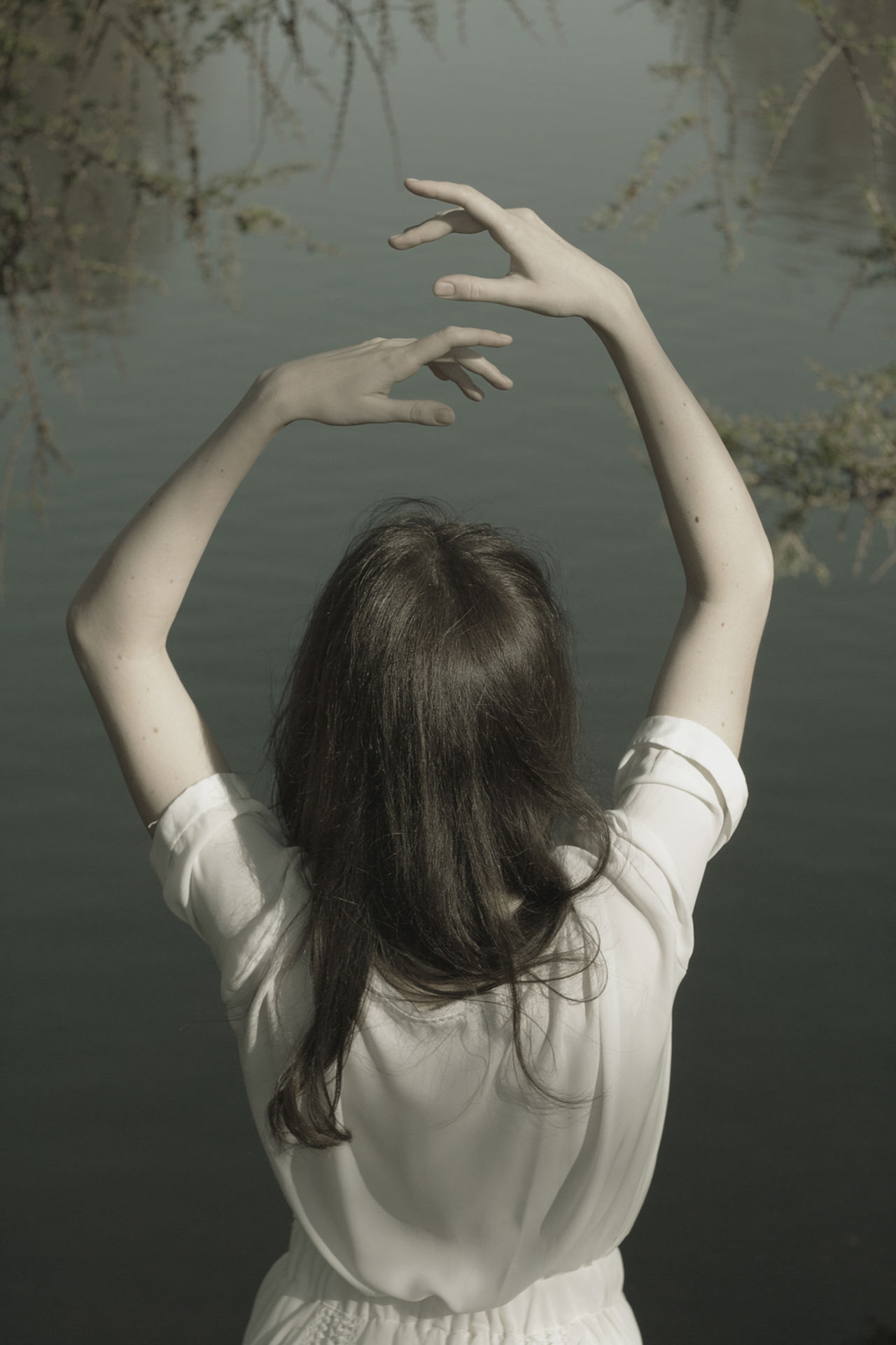 day EyeEmNewHere Hands one person outdoors Sommergefühle Standing water