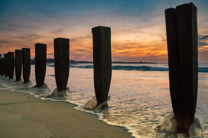 43 Golden Moments Beach Beach Life Beauty In Nature Coastline Groynes Guernsey Landscape_Collection Sand Sea Shore Sky Sunset Sunset_collection Tranquility
