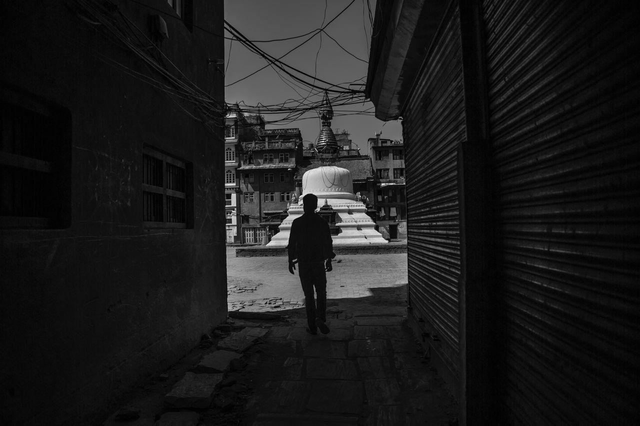 Nepal Kathmandu Blackandwhite Black And White Black & White Blackandwhite Photography Black And White Photography Man Streetphotography Street Street Photography ASIA Asian  Architecture