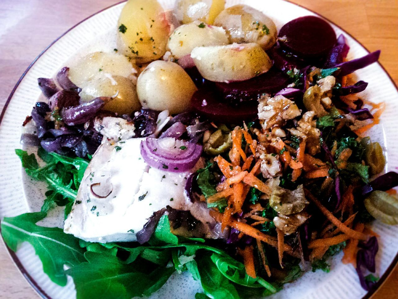 Food Foodporn Food Porn Foodphotography Food Photography Lunch Plate Coleslaw Homemade Food Homemade Fish Salad Yum Colour Of Life Table Potatoes Scrumptious