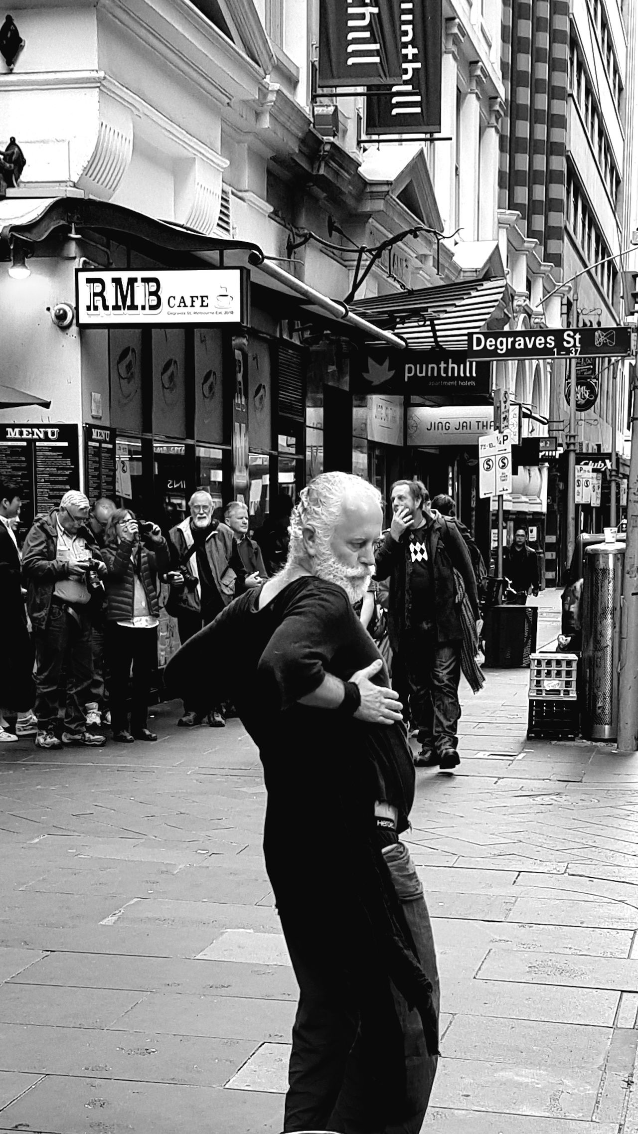 Real People People Outdoors One Person Dancing Dancing In The Street Dancing! Streetphotography Blackandwhite Streetphoto_bw Street Photography