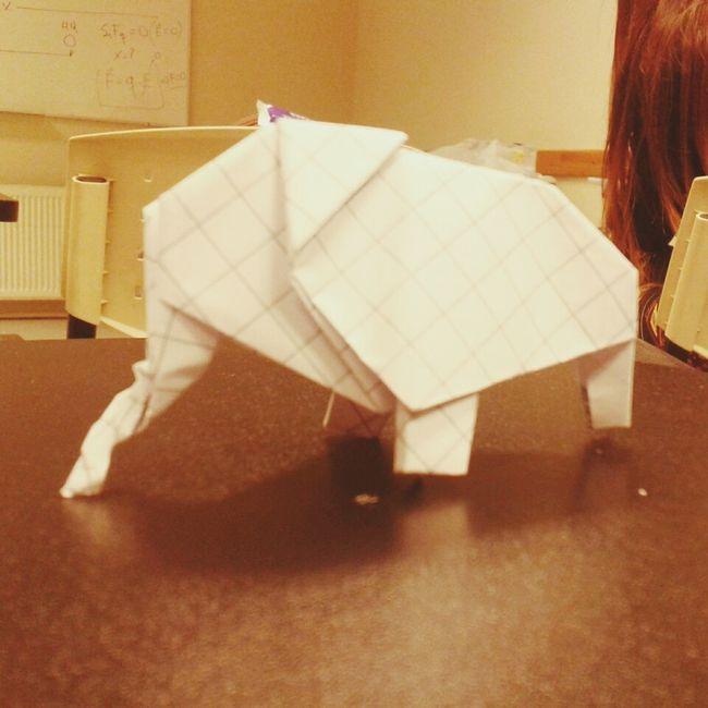 bored in class Origami Art College
