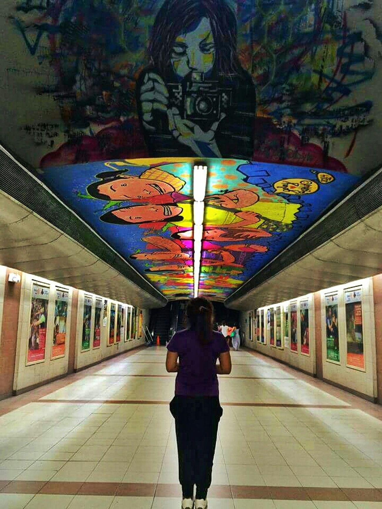 Underpass Ayala Walkway Graffitti ArtWork Photography Mural Wall Art