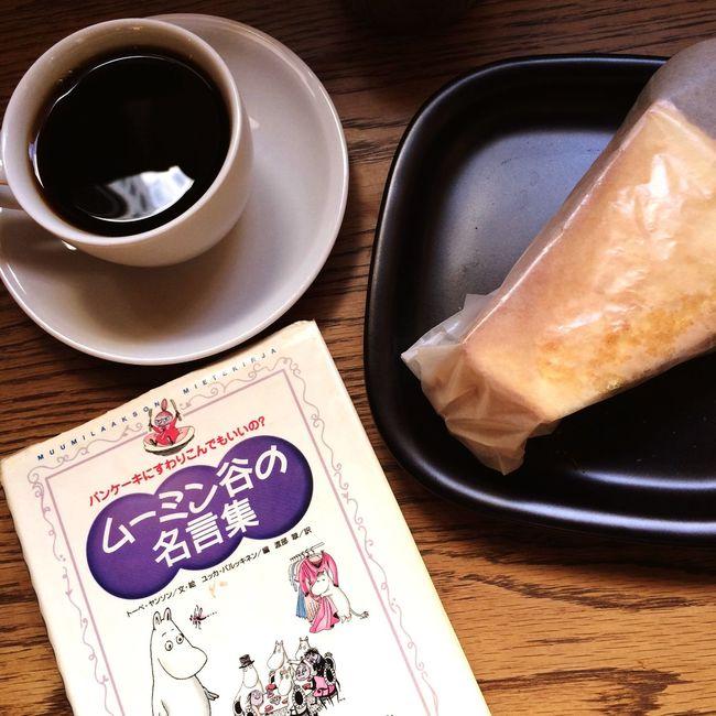 Bacon and potato sandwich American coffee Foodstagram 1人の時間 Lunch ムーミン