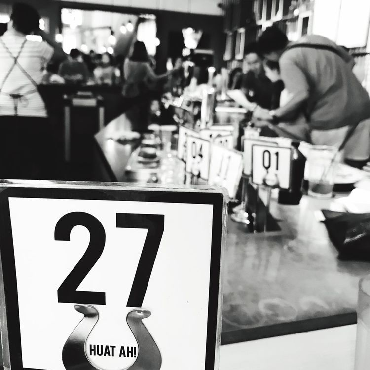 I got a queue number 27 for lunch and coincidentally my dinner table was table 27. Is a sign🤔 Bnw Blackandwhite Black & White Cafe Chill Waiting Meal