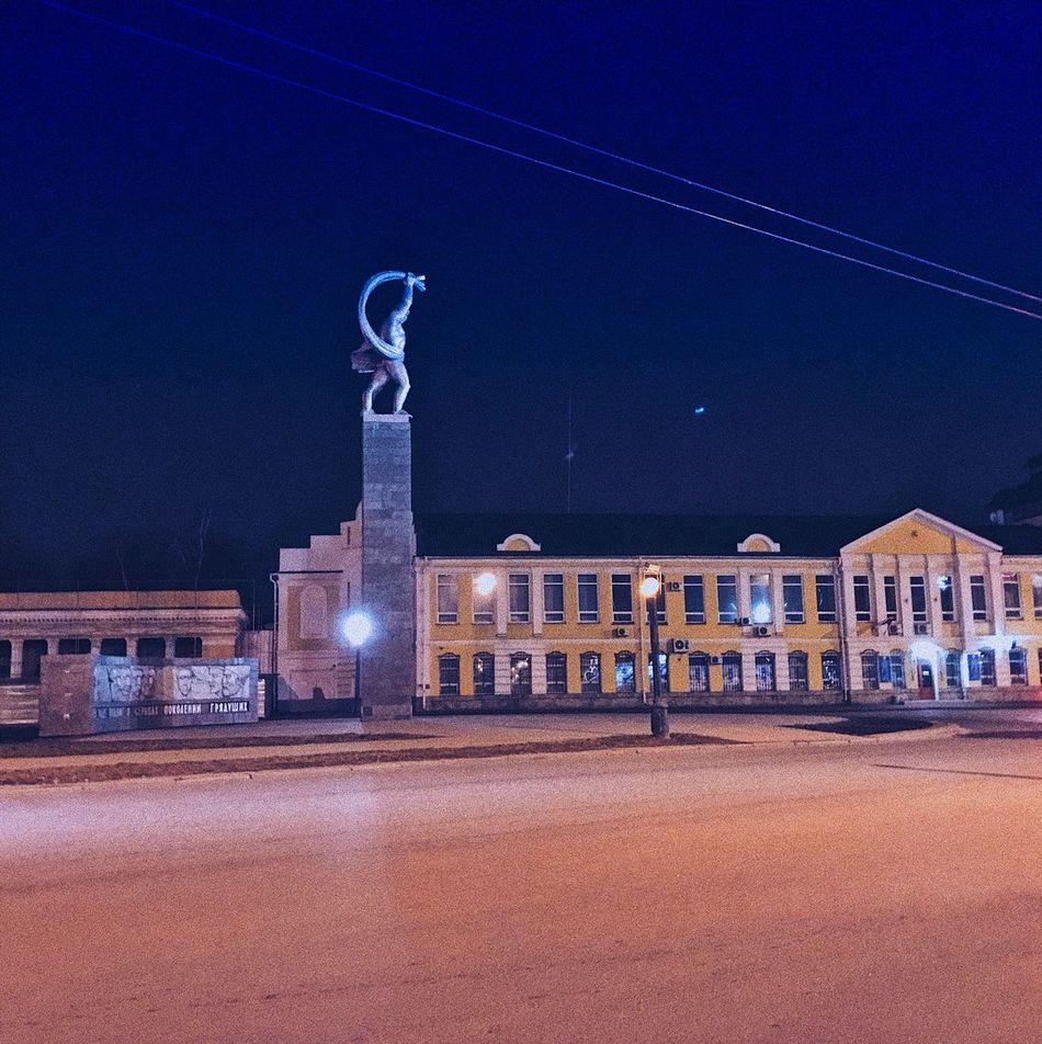 Night Illuminated No People Statue Outdoors Architecture Sky Lipetsk липецк