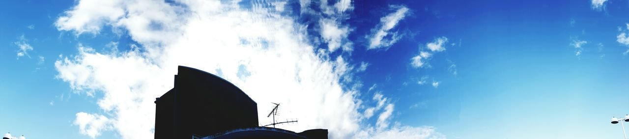 sky, cloud - sky, low angle view, day, blue, outdoors, no people, building exterior, architecture, nature, animal themes