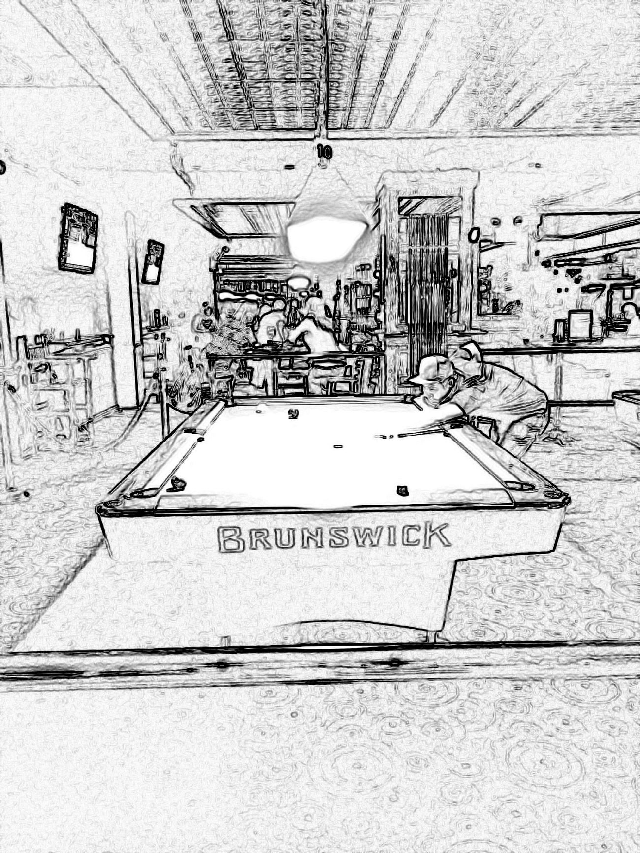 Amsterdam Billiards 9 Ball Billiards Sketches