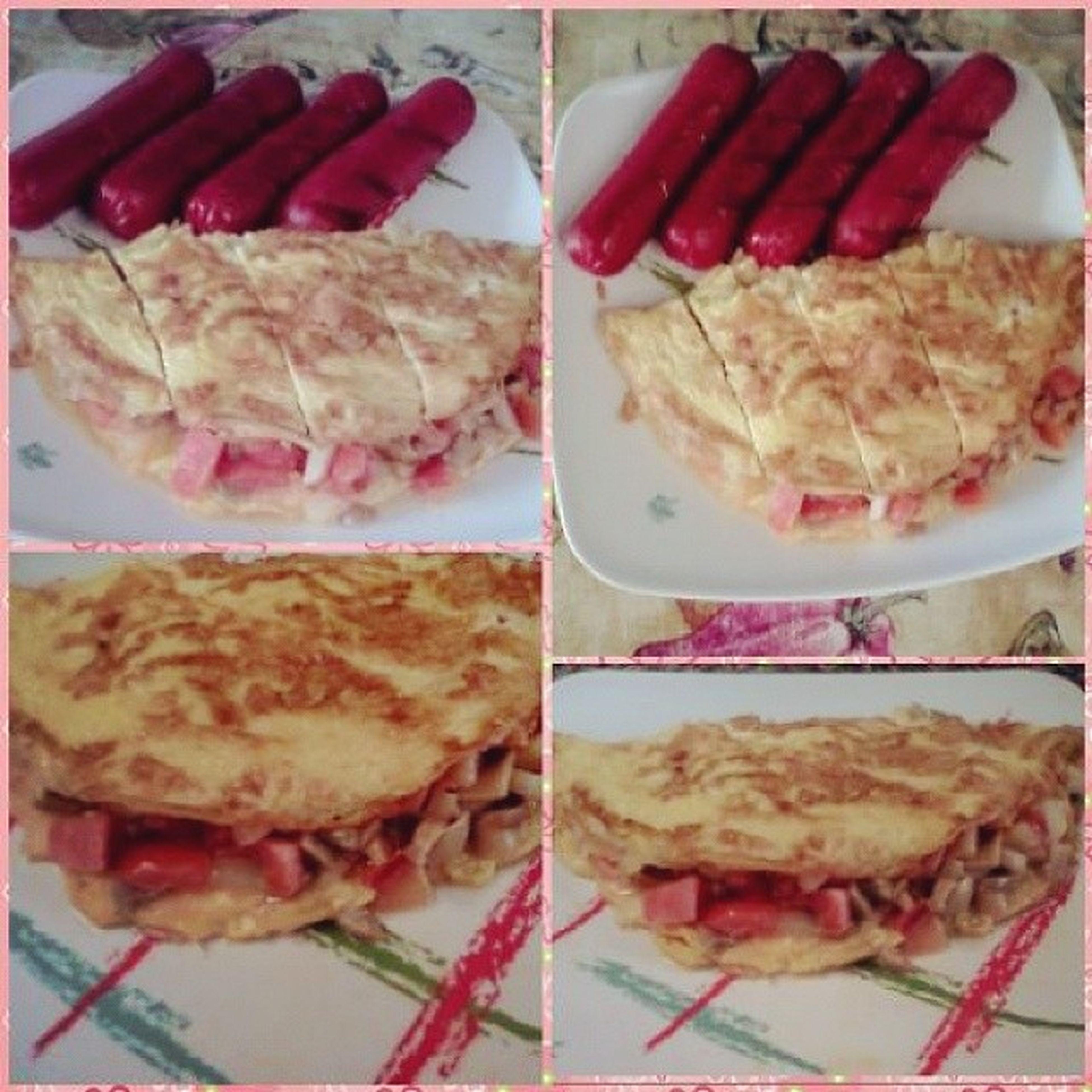 Brunch Hotdog_and_omelet :)