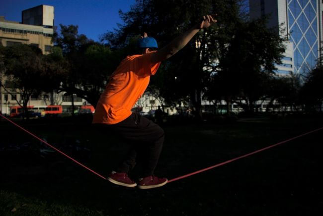 Athleisure Slackline Relaxing Simple Things In Life Sun Colors City Park Walking Longline Rodeo Balance The Color Of Sport