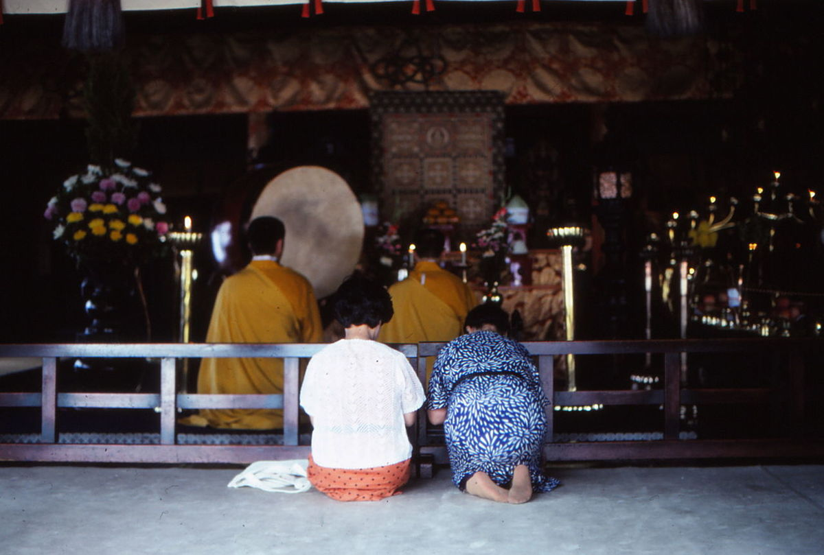 Atmosphere Culture Japanese Temple Monks Prayer Religion Silence Togetherness