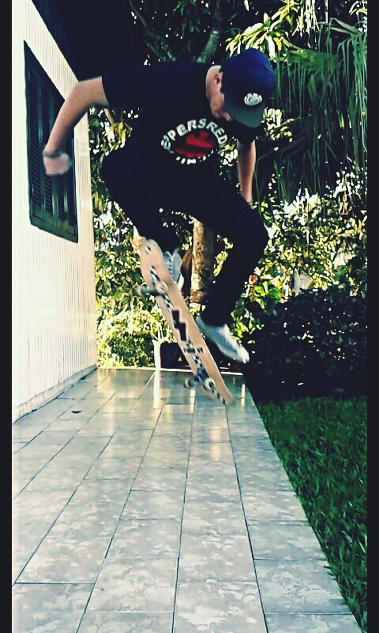 Skateboarding Enjoying Life