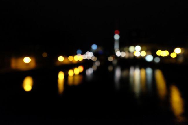 Blurred Skyline Depth Of Field Museumsinsel Night Night Lights Reflection Selective Focus Spree