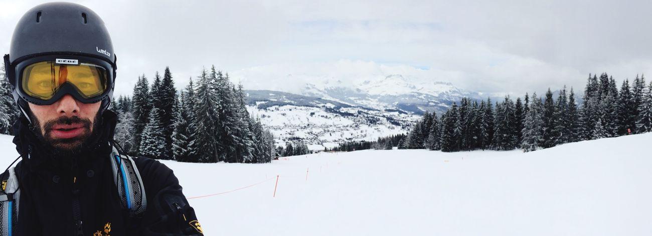 Coucou ... Selfie Panorama Skiing Mountain View Mountains Snow Saint Gervais