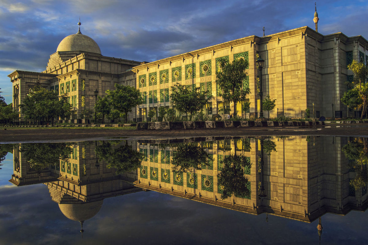 Architecture Building Exterior Built Structure Cloudy Islamic Center Jakarta Indonesia Jakarta Utara JICC Masjid Moorning Moslem Mosque No People North Outdoors Pray Reflection Religion Tanjung Priok