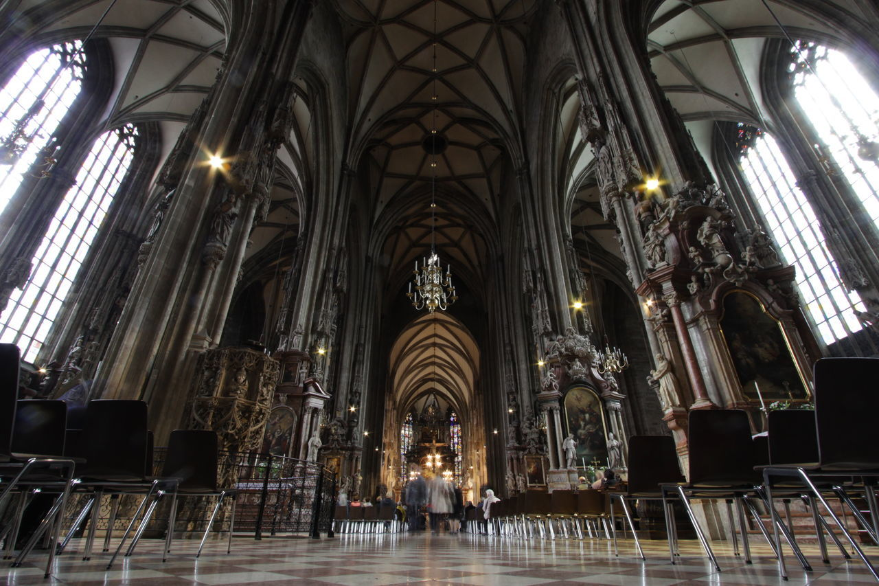 architecture, religion, indoors, place of worship, history, ceiling, spirituality, no people, day