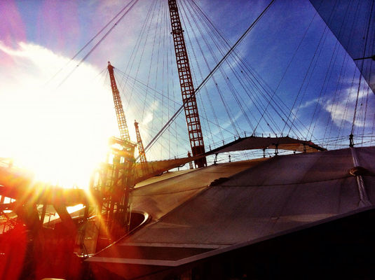 sunset at The O2 Arena by Yarsu