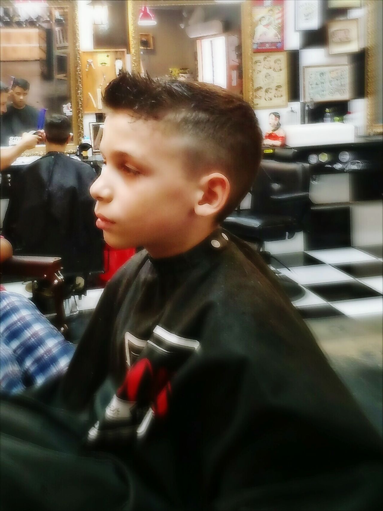 Child Boys One Boy Only Childhood City Close-up People One Person Sitting Haircut Hair Style Males  Barbershop Indoors