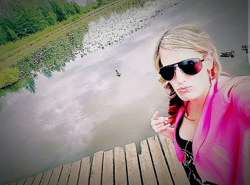 DUCK FACE AND DEUCES Open Edit ElleNicole Lyssanicole One Person Sunglasses Outdoors Boardwalk Duckface Deuces Selfie ✌ Blazer Hot Pink Water Contrast Bright Alaska Scenics Capture The Moment Perspective Reflective Awareness Millenial Blah