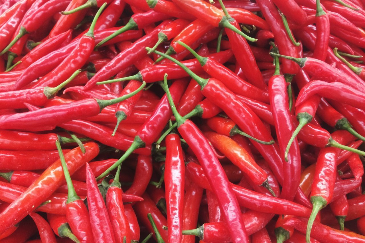 Red Red Chili Pepper Spice Food And Drink Chili Pepper Full Frame For Sale Food Freshness Market Vegetable Backgrounds Market Stall Retail  Close-up Stall No People Day Outdoors