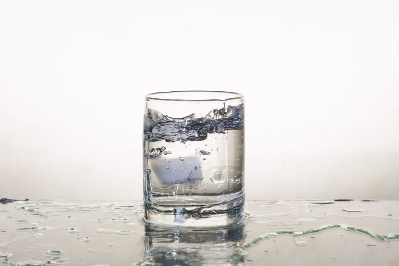 Carbonated Close-up Cold Drink Cold Temperature Day Drink Drinking Glass Drinking Water Freshness Indoors  No People Purity Refreshment Studio Shot Tonic Water Water White Background