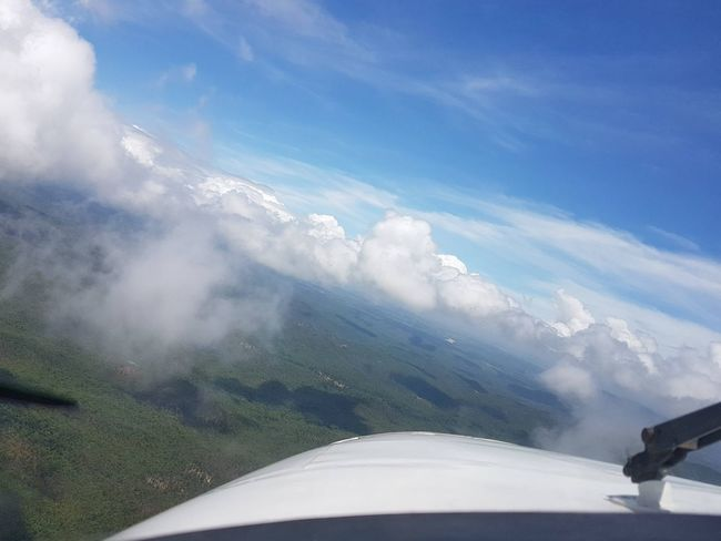 Flying the cloud pylons. Pilotlife Kingair Aviation Pilot Aerial View Officeview Monsoon