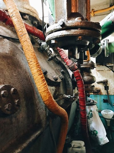 No People Day Nautical Vessel Outdoors Close-up Still Life Heavy Metal Oily Pressure Gauge Machine Room Technology Ship Interiors Engineering Interior Detail Pipes Engine Engine Room Industry Heavy Full Frame Machinery Rustic