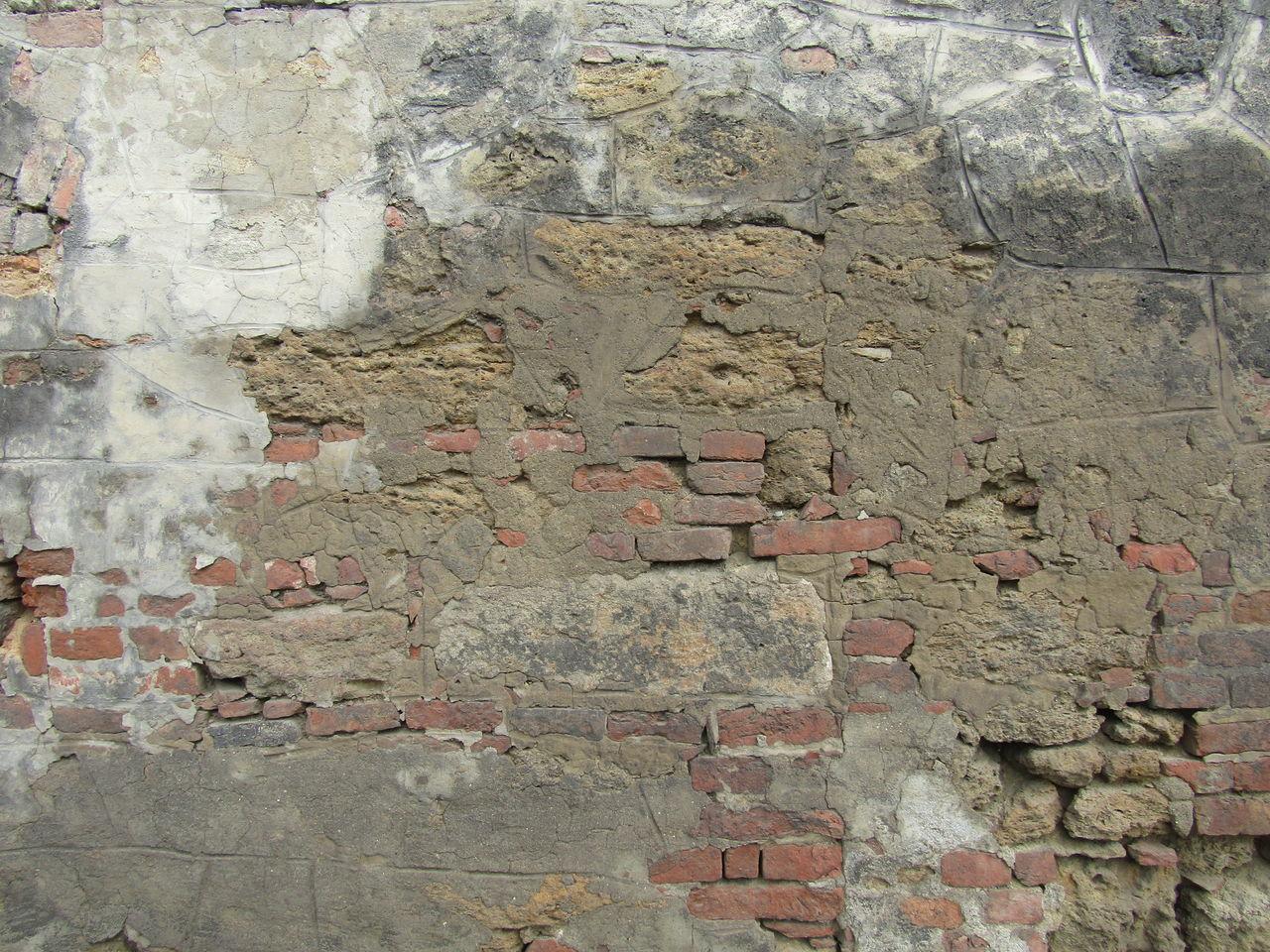 Backgrounds Pattern Full Frame Weathered Wien Vienna Liesing Wall Mauer Abandoned Ziegel Brick Brick Wall Verfallene Mauer Textured