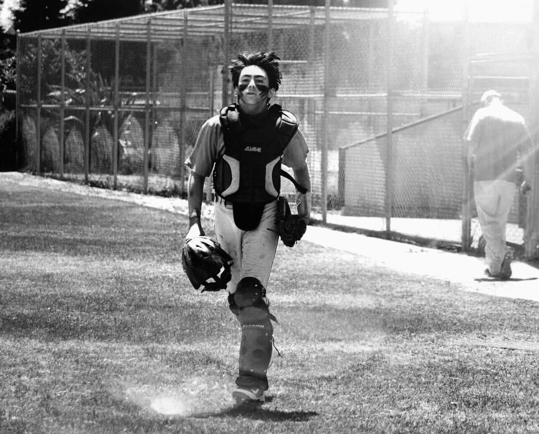 Full Length Lifestyles Leisure Activity Person Young Adult Front View Blackandwhitephotography Blackandwhite Childhood Elementary Age Memories Portrait Sentimental Confidence  Baseball Baseball ⚾ Baseball Is Life Baseball Season Baseballgame Catcher Catcher Catchers Life Allstar Allstars AllStarGame sports