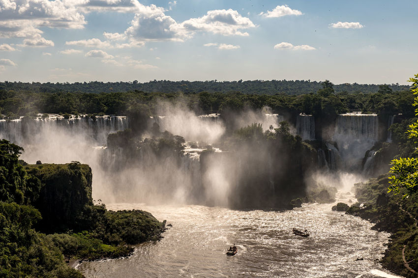 Brazil Green Trees And Leaves Misty Boats Clouds D850 Iguazu Falls Waterfall