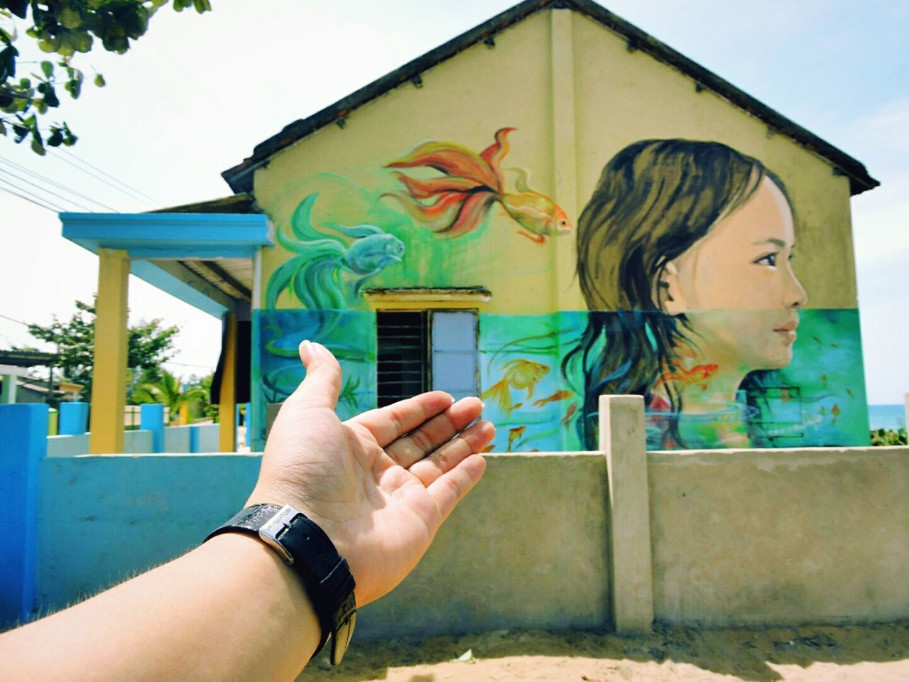 My Year My View Tam Thanh Mural Village Danangcity Vietnam Làng Bích Họa My Life Is The Trip My Hand