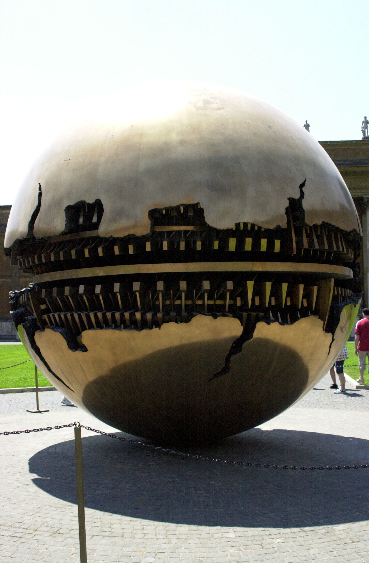 Look what has landed at the Vatican. Architecture Building Exterior Built Structure Clear Sky Day Mode Of Transport No People Outdoors Sky Vatican Art Vatican Courtyard Vatican Museum VaticanCity VaticanMuseum