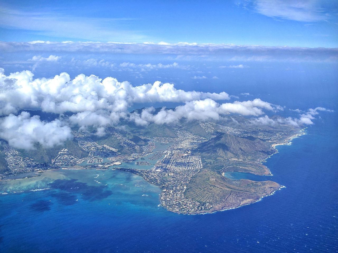 bidding fond aloha to east o'ahu Aerial View Cloud - Sky Beauty In Nature Taking Photos EyeEm Gallery Mobile Photography Eyem Gallery In An Airplane Pacific Ocean Going Home Mountains And Valleys Honolulu, Hawaii Places I Love Mountains And Sky Cloudporn Beauty In Nature Waterfront Living Edited My Way Blue Sea Pacific Ocean View Looking Down Flying Over Water Tropical Beauty Blue Scenic View