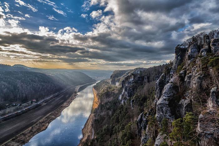 Elbe Landscape Dramatic