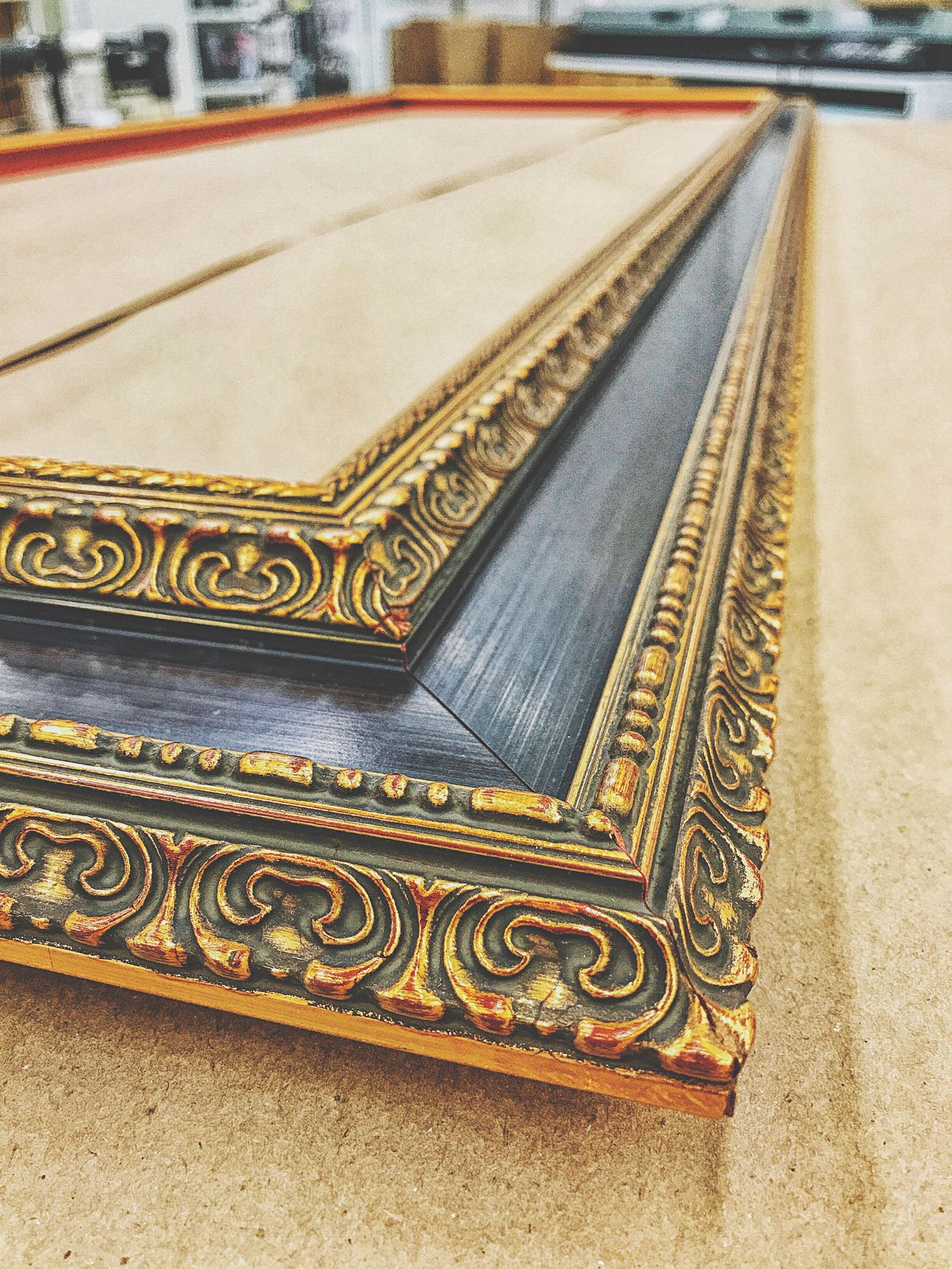 Framing... No People Close-up Outdoors Day Frame Frame It! Framed Moulding Wood Red Gold Guilded