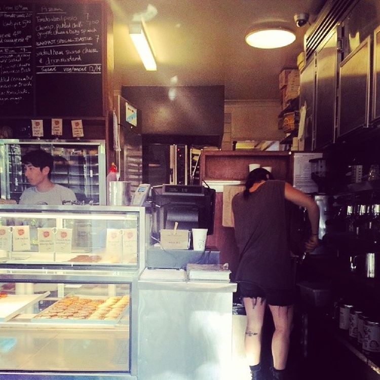 People at work @ my most favorite bakery in Sydney.