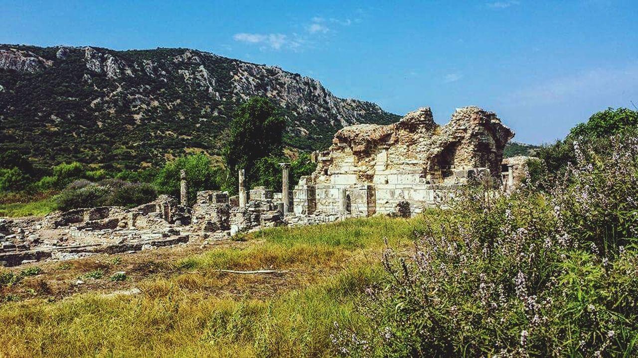 Church Of Mary Ephesus Turkey Seljuk History Christianity Church Ancient Ruins Anatolia Anadolu Blue Sky Outdoors Sky Sunshine ASIA Morning Mountain