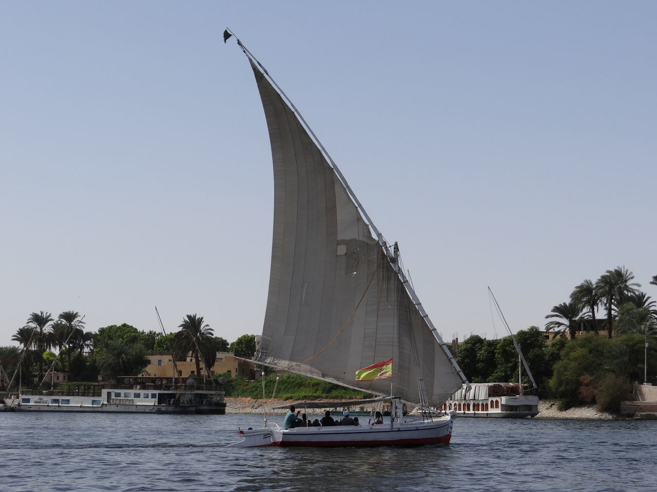 Boat Day Luxor Luxor View Nautical Vessel Nile Nile Boat Nile River No People Outdoors Sailboat Sailing Sky Transportation Yachting
