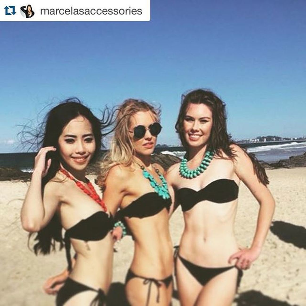 Repost @marcelasaccessories of her models Behind the scenes from today's Shoot.😀🙋👌❤️ Marcelasaccessories Ss15 Lookbook Jewellery Handcrafted Handmade Fresh Models Beach Weekend Fashion Fashionista Style TBT  Makeupartist Photoshoot Fashion Pose Jewelerydesigner @jkdimagery @mystiquemodels