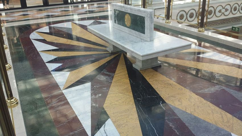 Marble Bench Architecture Shopping Mall San Sebastian De Los Reyes, Madrid, Spain City