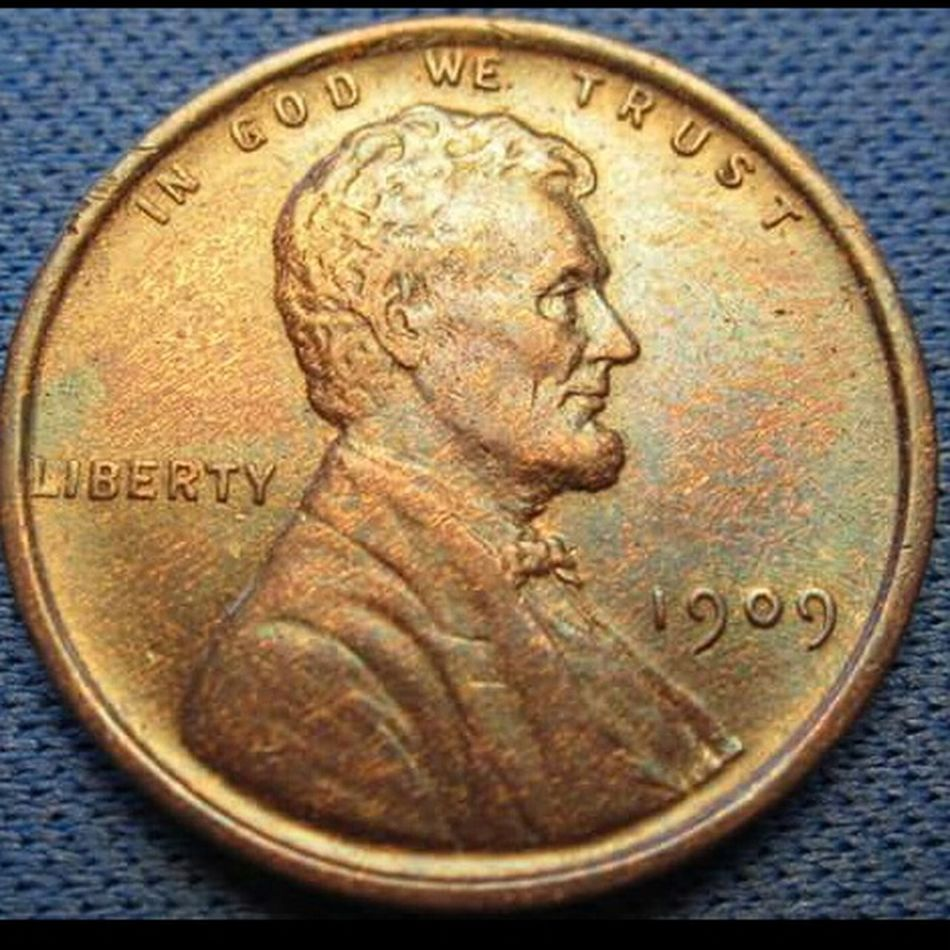 Wheat Penny Cent Penny Copper  Numismatics Toned Coin